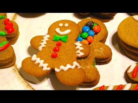 How To Make Gingerbread Man Piñata Cookies! Christmas Treat!