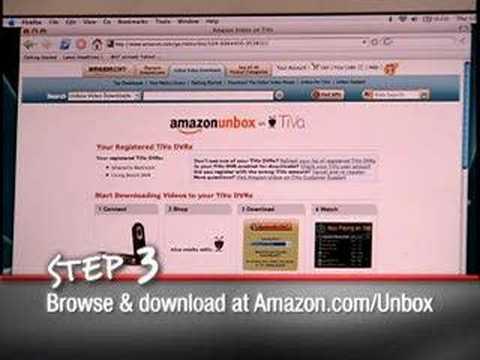 Amazon Unbox on TiVo: How it Works