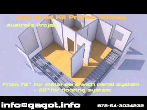 Prefab self build panels modular mobil homes