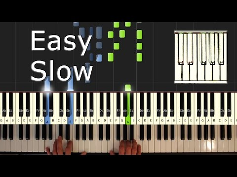 Chopin Nocturne Op. 9 No. 2 - Piano Tutorial Easy SLOW - How to play (Synthesia)