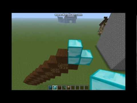 Minecraft:How to Make a Diamond Pickaxe in Pixel Art