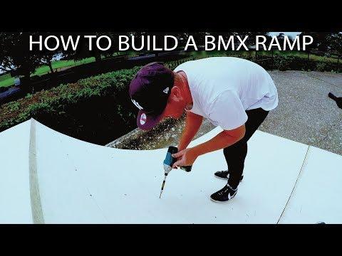 HOW TO BUILD A BMX RAMP!!