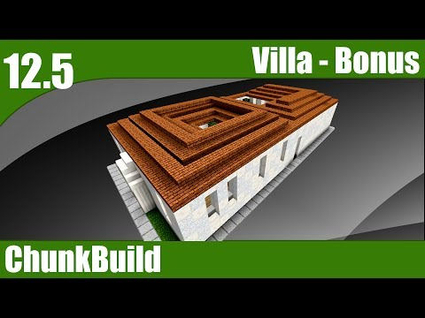 ChunkBuild 12.5: Minecraft Roman Villa Bonus Episode! | Ancient Rome theme 3 (Minecraft 1.12)