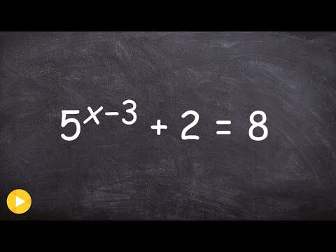 Using the change of base to help solve an exponential equation