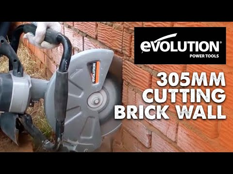Evolution 305mm Disc Cutter: Cutting a red brick wall in half!