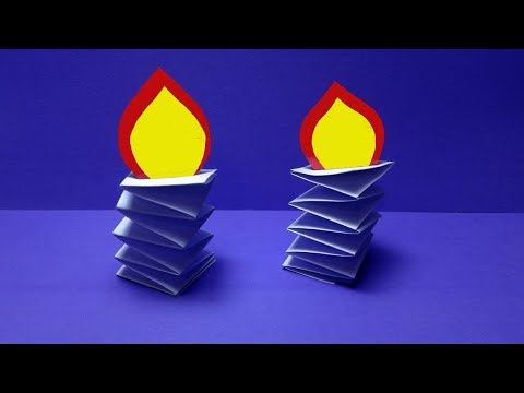 How to make paper Candle? DIY Paper Candle-diwali decoration@christmas decorations ideas with paper