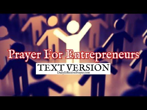 Prayer For Entrepreneurs (Text Version - No Sound)