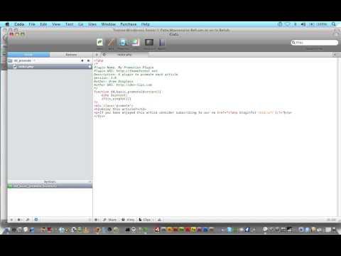 Wordpress Tutorial Trainer Part 10 -Your First Plugin