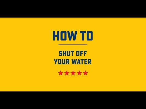 How to Shut-Off Your Water | Roto-Rooter