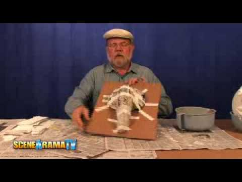 How To Use Plaster Cloth To Build A Diorama - School Project | Scene-A-Rama
