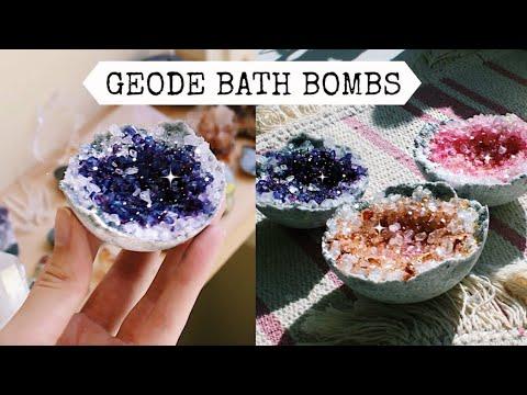 DIY Geode Bath Bombs - Chit Chat Tutorial | Natasha Rose