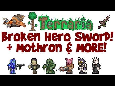 How To Get Broken Hero Sword! Terraria 1.3 Solar Eclipse, Drops, Mothron Guide (+How To Spawn Event)