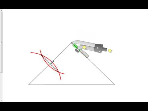 Constructing a median with a compass