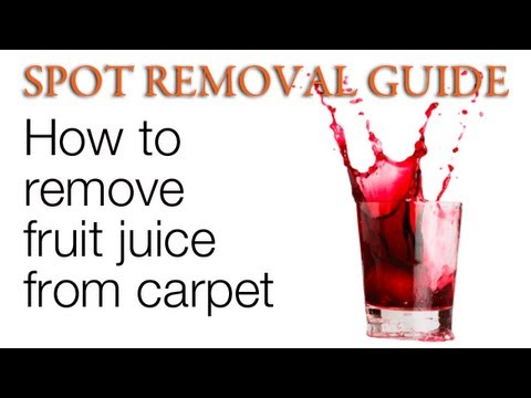 How to get Fruit Juice Stains out of Carpet | Spot Removal Guide