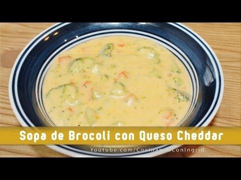 SOPA DE BROCOLI Y QUESO - BROCOLI CHEDDAR SOUP (PANERA COPYCAT)