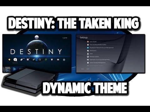 [PS4 THEMES] Destiny Taken King Dynamic Theme Video in 60FPS