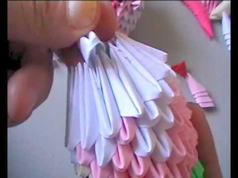 3D origami: cupcake bear part 2