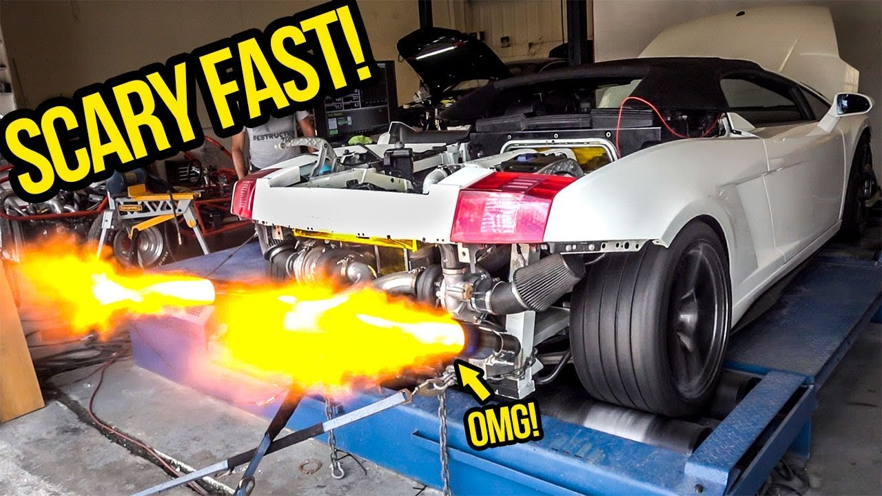 My Cheap Lamborghini GOES INSANE On The Dyno And Gets SCARY FAST!