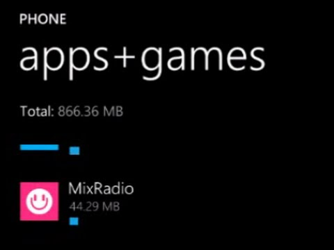 How to remove Apps and Games from Microsoft windows phone 8 and more