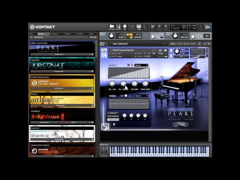 Pearl Concert Grand: Virtual Piano Walkthrough & Demonstration with zircon