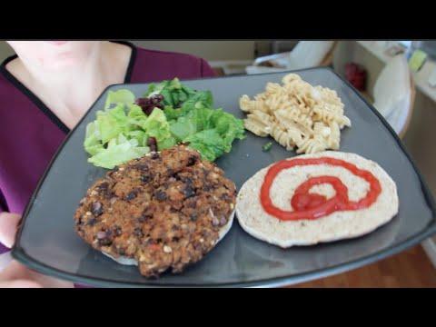 What I Ate Vegetarian - Costco & Black Bean Burger - August 26