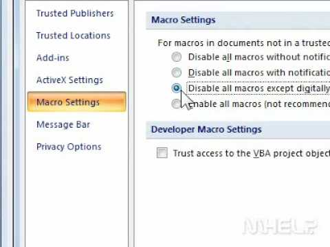 How to disable Macros when using PowerPoint