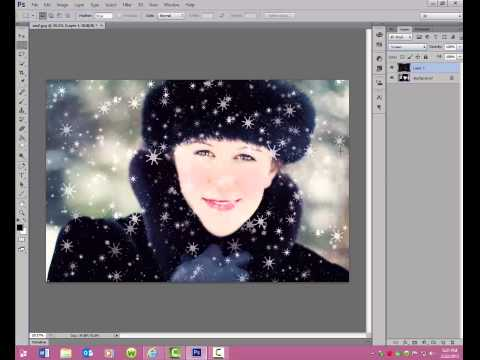 How to Add Snow to Photos in Photoshop and Photoshop Elements
