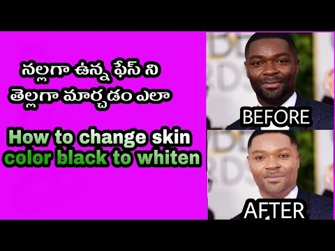 How to change skin colour black to white