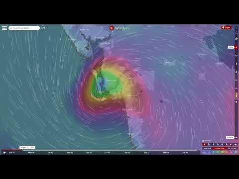 Eye of Hurricane Irma direct hit on Ft Myers 7PM Sunday Sept 10 2017