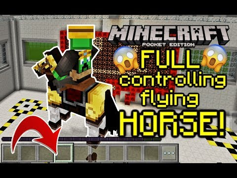 ✔️ Full RIDEABLE flying HORSE in Minecraft PE 1.5! Command block Tutorial!  **NOT CLICKBAIT**