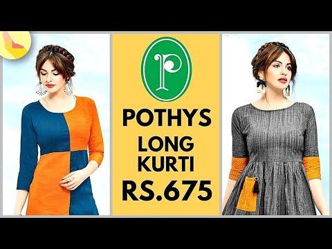 Pothys Summer Collection 2018 | Pothys Designer Long Kurti | Office Wear | Daily Wear