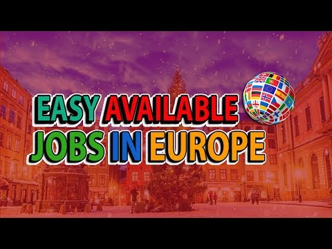 What Kind of Jobs In Europe