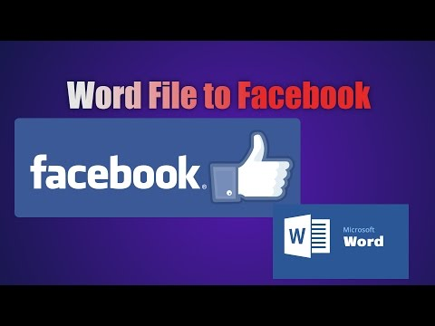 How to Upload Word Document to Facebook Easy Steps