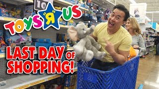 """MAKING A MUSIC VIDEO IN TOYS """"R"""" US!!! Toys """"R"""" Us Closing BTS! Last Day of Toy Shopping!"""