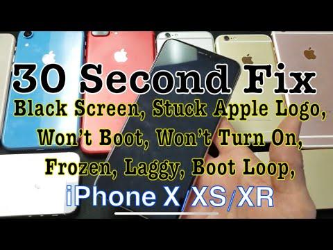 iPhone X/XS/XR: How to FIX Black Screen, Won't Turn Off/On/Reboot, Stuck on Apple Logo