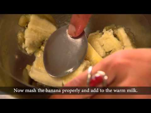 Nepal: How to Cook Banana and Milk Custard for Children (Nutrition)