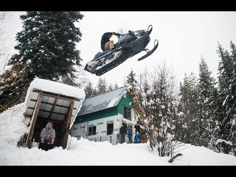 Sending a Snowmobile Over an Outhouse