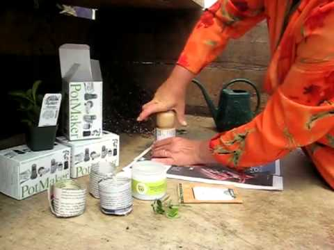 How to Make Garden Pots from Newspaper