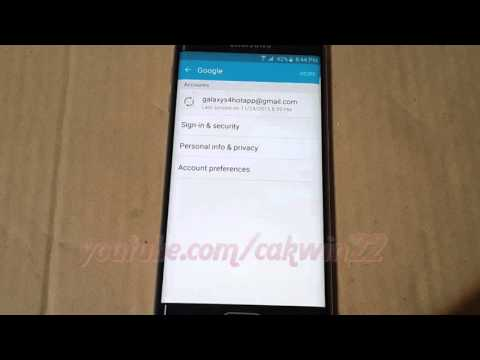 Android : How to Remove Google Account on Samsung Galaxy S6