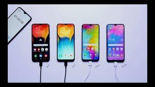 Samsung Galaxy A50 vs Galaxy A30 vs Galaxy M20 vs Galaxy M30: Battery Test [Hindi-हिन्दी]