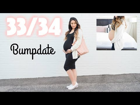 Contractions! Going Into Labor Early? Baby Moon? 33 - 34 Weeks Pregnancy Update