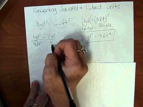 Converting Squared and Cubed Units