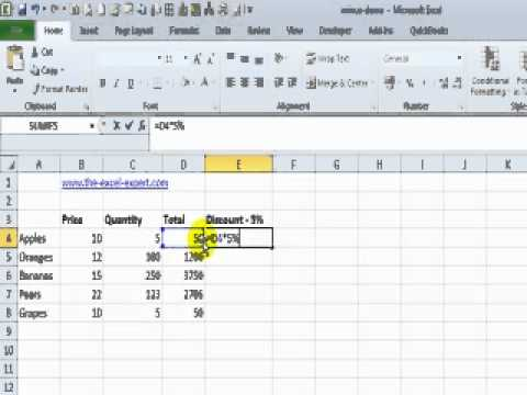 Subtract Two Numbers From Each Other In Excel And Copy The Result