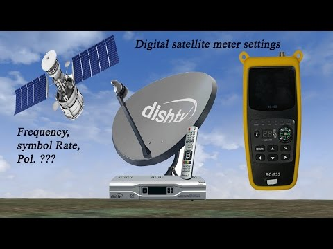 DIGITAL SATELLITE METER SETTINGS FOR DISH TV