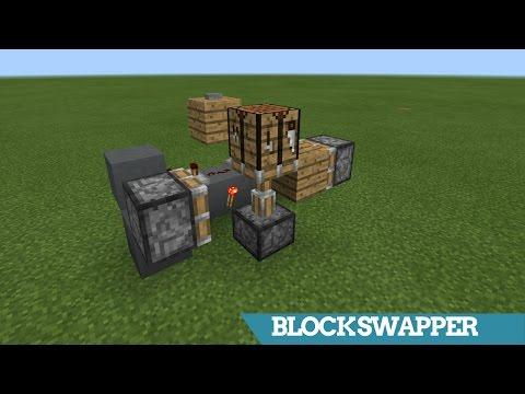 Minecraft | Flush BLOCK SWAPPER (Hidden Crafting Bench) | Redstone Tutorial