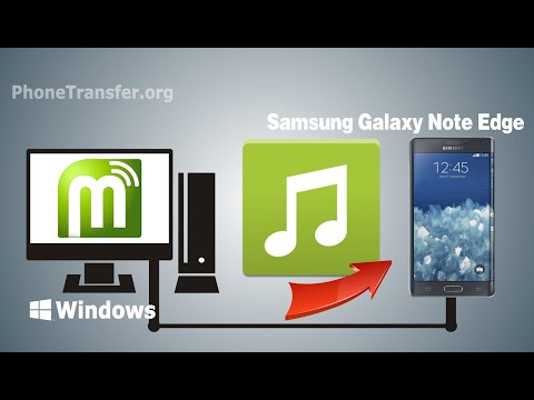 How to Put Music / Songs on Samsung Galaxy Note Edge from Computer
