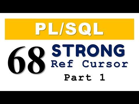 PL/SQL tutorial 68: PL/SQL Strong Ref Cursor in Oracle Database