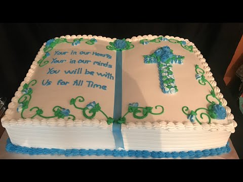 Bible cake ( pastel en forma de biblia )
