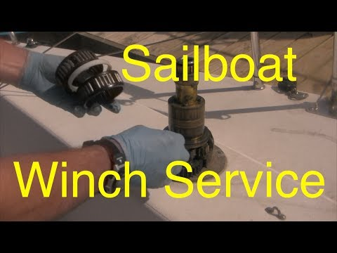 How to service a Harken sailboat winch