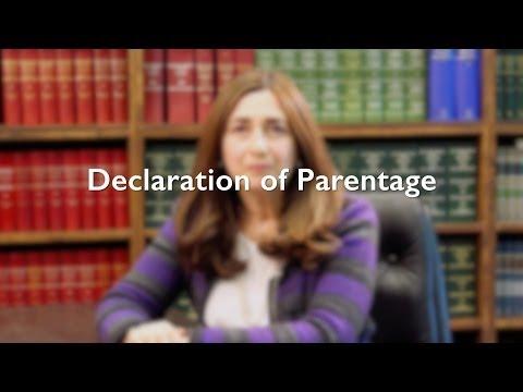 Declaration of Parentage